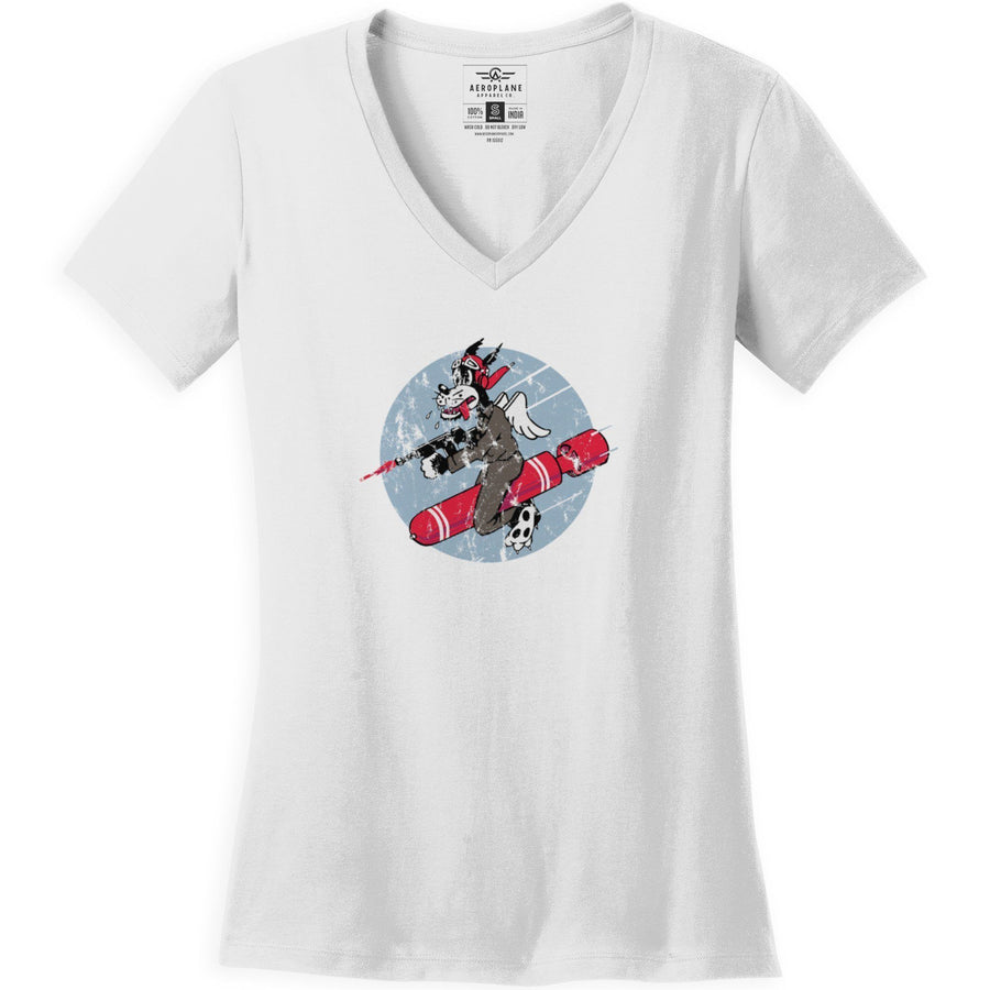 Shirts - 651st Bombardment Squadron Aeroplane Apparel Co. Ladie's T-Shirt
