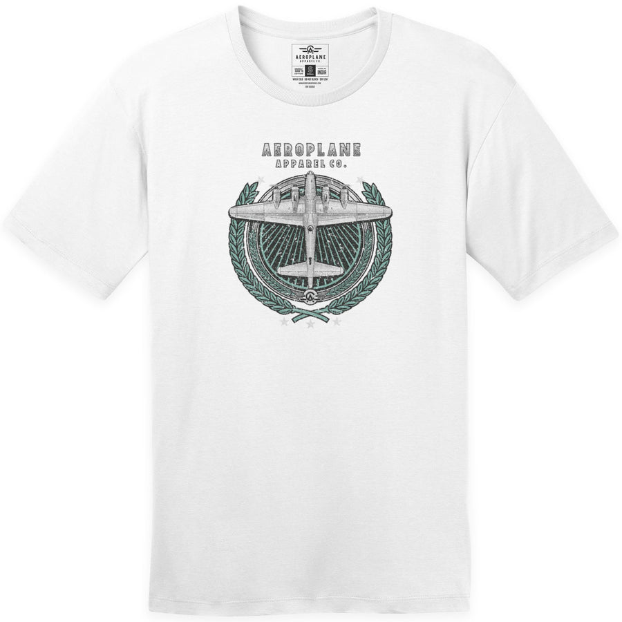 Shirts - B 17 Laurel Wreath Aeroplane Apparel Co. Men's T-Shirt