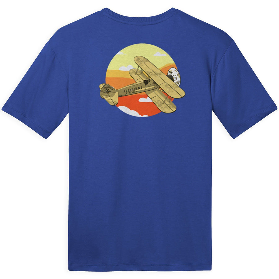 Shirts - Biplane Sky Aeroplane Apparel Co. Men's T-Shirt