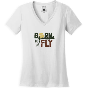 Shirts - Born To Fly Jets Aeroplane Apparel Co. Ladie's T-Shirt