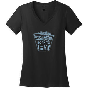 Shirts - Born To Fly Taildraggers Aeroplane Apparel Co. Ladie's T-Shirt