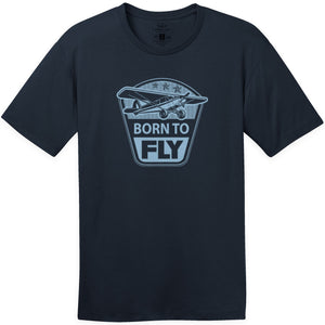 Shirts - Born To Fly Taildraggers Aeroplane Apparel Co. Men's T-Shirt
