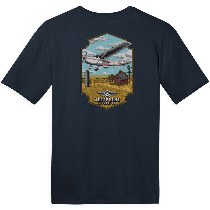 Shirts - Cessna Over Farm Aeroplane Apparel Co. Men's T-Shirt