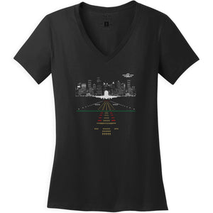 Shirts - City Skyline Aeroplane Apparel Co. Ladie's T-Shirt