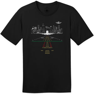 Shirts - City Skyline Aeroplane Apparel Co. Men's T-Shirt