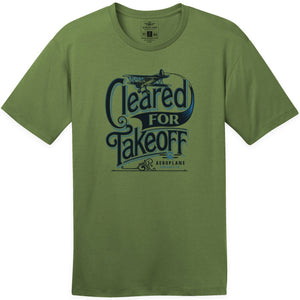Shirts - Cleared For Takeoff Aeroplane Apparel Co. Men's T-Shirt