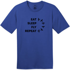 Shirts - Eat Sleep Fly Repeat Aerobatic Aeroplane Apparel Co. Men's T-Shirt