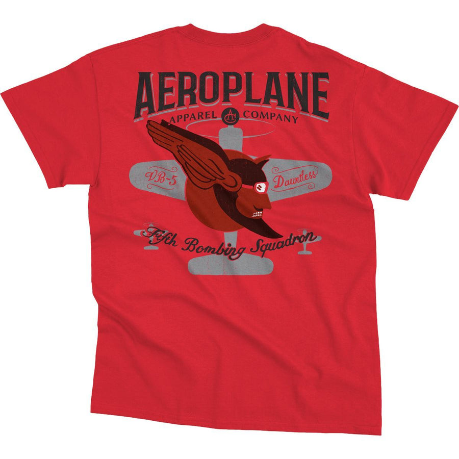 Shirts - Fifth Bombing Squadron Aeroplane Apparel Men's T-Shirt Cherry Red