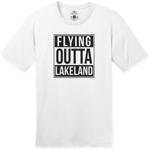 Shirts - Flying Outta Lakeland Aeroplane Apparel Co. Men's T-Shirt