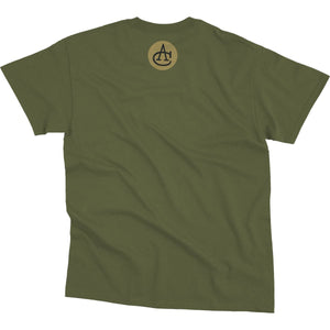 Shirts - Helmet Fly-Out Aeroplane Apparel Men's T-Shirt Moss