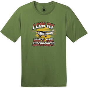 Shirts - I Can Fly What's Your Superpower Aeroplane Apparel Co. Men's T-Shirt