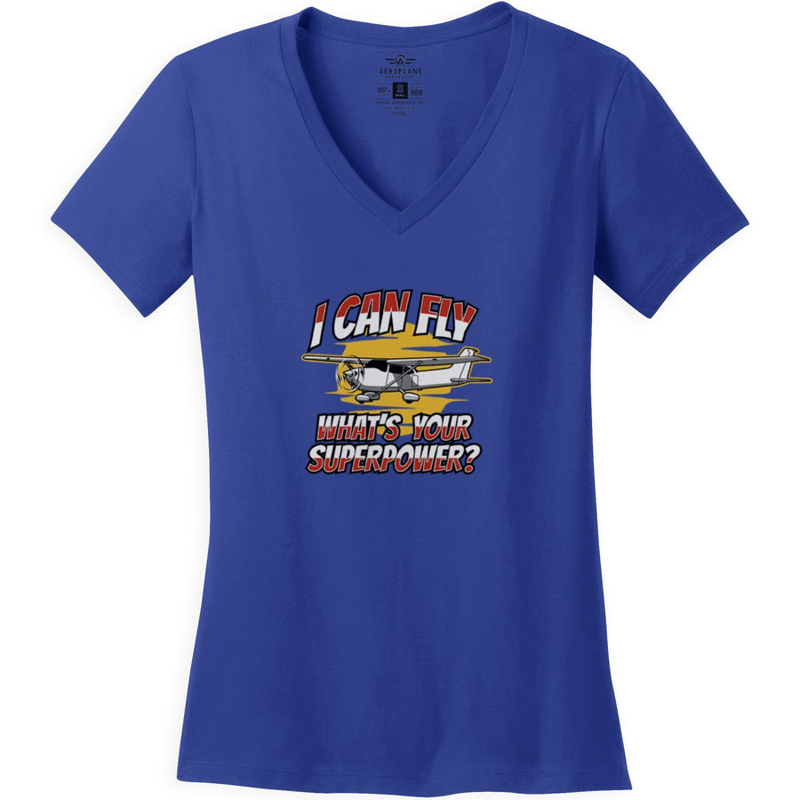Shirts - I Can Fly What's Your Superpower Aeroplane Apparel Co. Women's T-Shirt