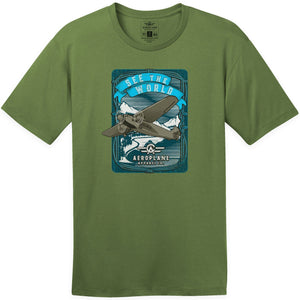 Shirts - See The World Aeroplane Apparel Co. Men's T-Shirt