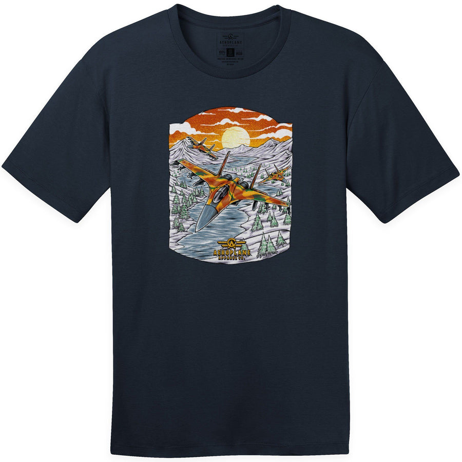 Shirts - Sukhoi SU-30 Aeroplane Apparel Co. Men's T-Shirt