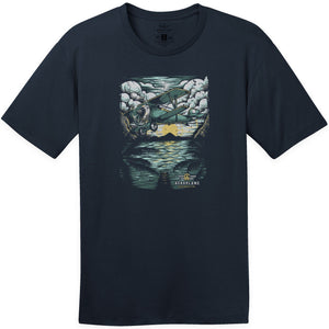 Shirts - Sunset Flight Aeroplane Apparel Co. Men's T-Shirt