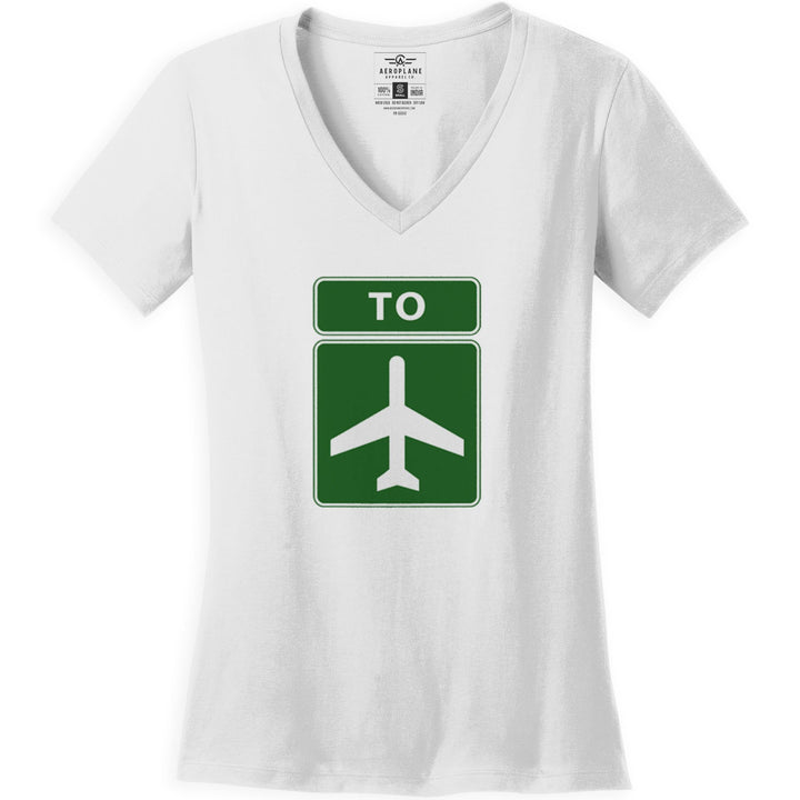 Shirts - To The Airport Aeroplane Apparel Co. Ladie's T-Shirt