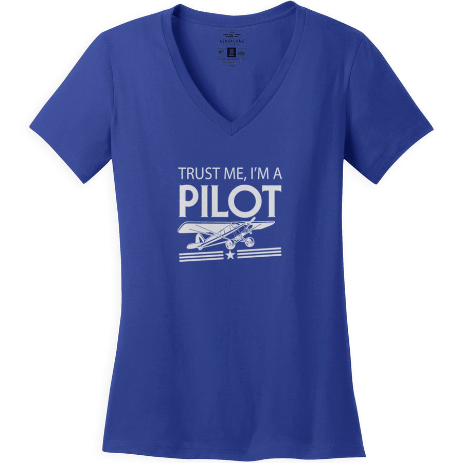 Shirts - Trust Me Im A Taildragger Pilot Aeroplane Apparel Co. Ladie's T-Shirt
