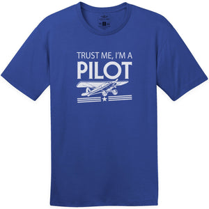 Shirts - Trust Me Im A Taildragger Pilot Aeroplane Apparel Co. Men's T-Shirt