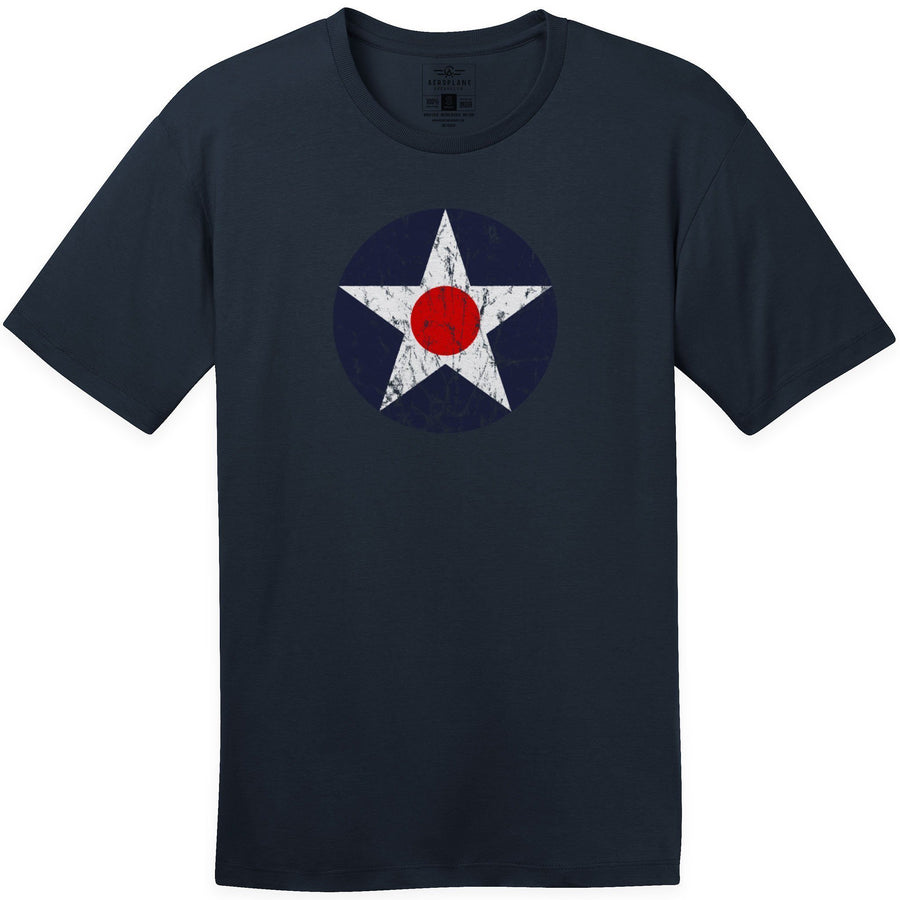 Shirts - USAF Roundel 1919 1942 Aeroplane Apparel Co. Men's T-Shirt