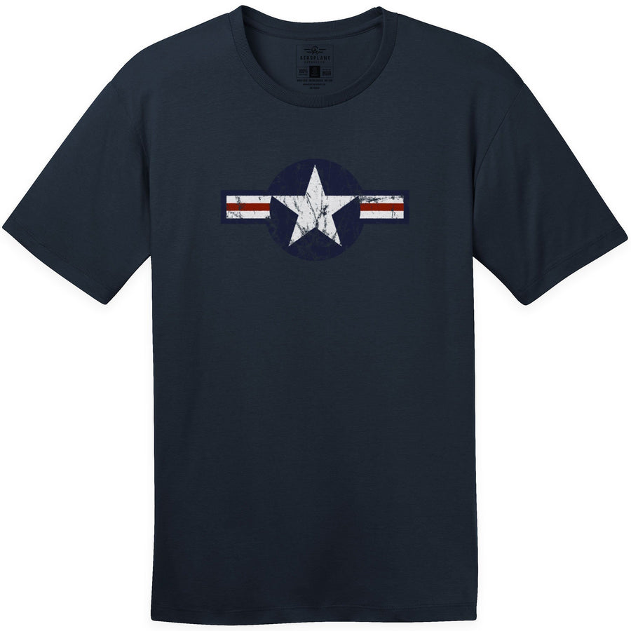 Shirts - USAF Roundel Current Aeroplane Apparel Co. Men's T-Shirt