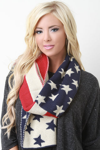 USA Stitch Scarf - LE'BOUTIQUE