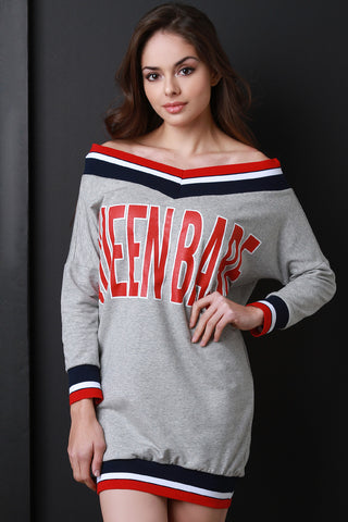 Varsity Sweater Dress - LE'BOUTIQUE