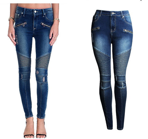 Biker Babe Plus Size Denim - LE'BOUTIQUE