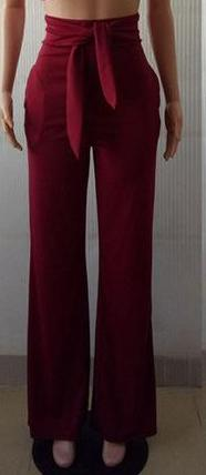 Belted Trousers - LE'BOUTIQUE