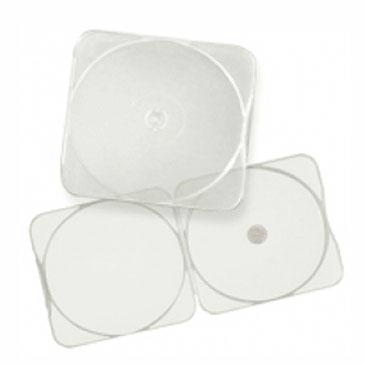 5.2mm Slim CD Poly Case with Round Edges Clear (CB11), 50 Pack