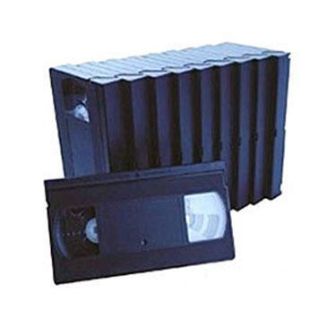85 Minute High Grade VHS Tape, Colors Available in Green, White and Black