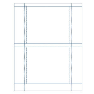 2-Up CD Tray Liner Insert Sheet Matte White (100 lb), 100 Sheets