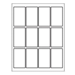 12-Up VHS Individual Face Label Sheet White, 100 Pack