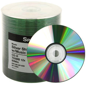 Spin-X CD-R 80Min 12X Digital Audio Non Hub Printable