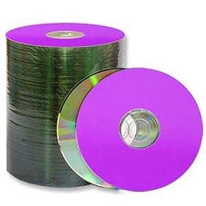 Spin-X CD-R 80Min 48X Diamond/Purple Thermal Printable