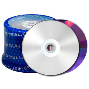 Spin-X DVD-R 16X Silver Inkjet Hub Printable, Metalized Hub