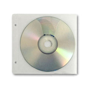 CD/ DVD 2 Disc Refill Sleeve, with 2 Binder Holes, 500 Pack