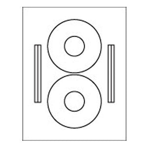 2-Up CD Label Sheet: 4.375 Diam White, 100 Sheets