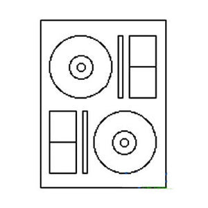 2-Up CD/ DVD Label Sheet: 4.6406 Diam (Memorex sized), 100 Sheets