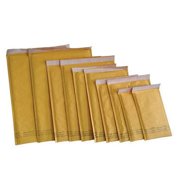 "Kraft Bubble Mailers 5 "" x 9 "" #00, 20 Pack"