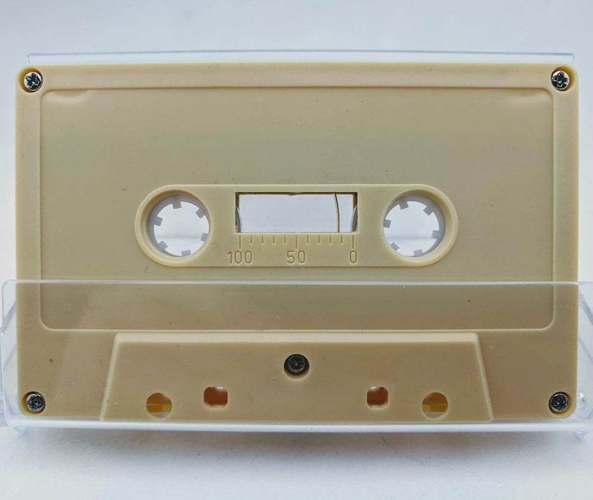 Beige Tab Out 10 Minutes (05 Min. per side) Type I Normal Bias Master Audio Cassette 5 Screws - 25 Pack