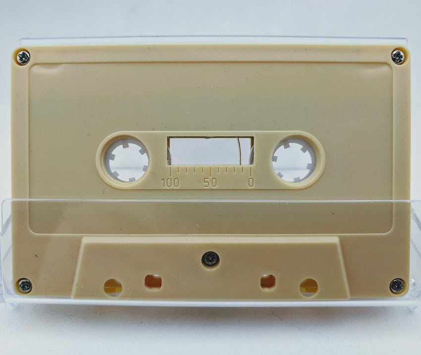Beige Tab Out Type I Normal Bias Master Audio Cassette 5 Screws - 25 Pack