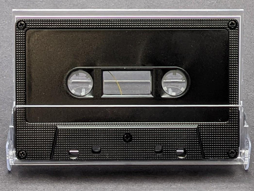 Black Tab In Large Window 10 Minutes (05 Min. per side) Type I Normal Bias Master Audio Cassette 5 Screws - 25 Pack