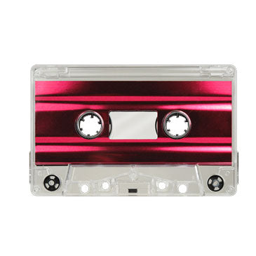 Clear with Red Foil Tab Out Type I Normal Bias Master Audio Cassette Sonic