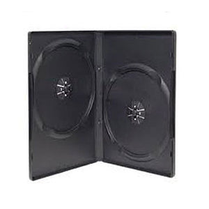 14mm DVD Case Machine Pack, Black, Holds 2