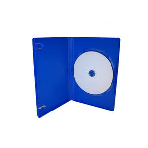 14mm Standard Single DVD Case Blue, 10 Pack