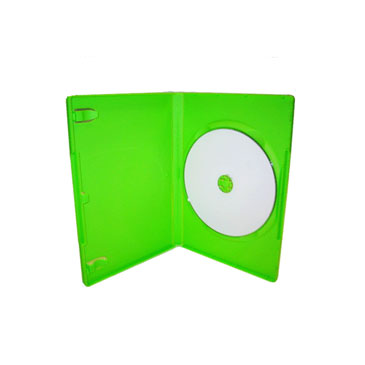 14mm Single DVD Case Green, 10 Pack