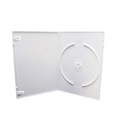 14mm Standard Single DVD Case, White