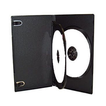 14mm DVD Case With 1 Tray and Booklet Insert Tabs Black, Holds 2