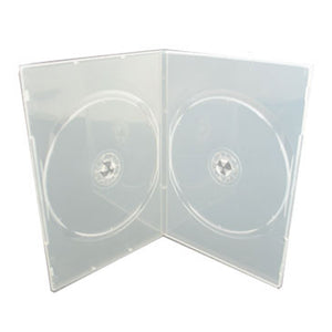 7mm Slim Double DVD Case, Clear
