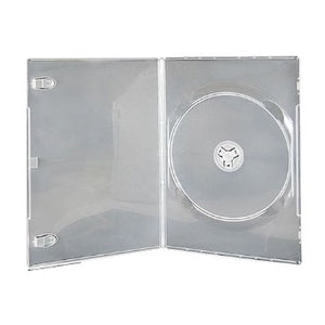 7mm Slim Single DVD Case, Clear